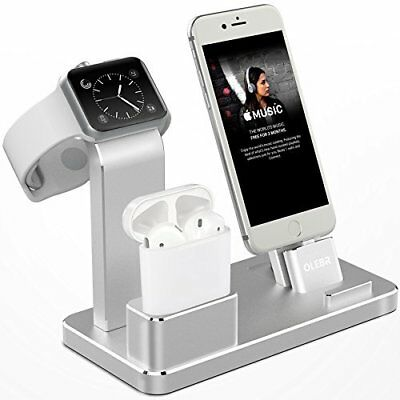 Apple Charging Stand For Apple Watch iPhone AirPods Dock Holder Aluminium Silver