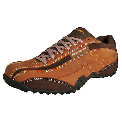 Skechers Urban Track Imperial Men's Casual Leather Shoes Brown