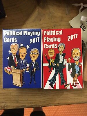 2 Packs Of Brexit Political Playing Cards