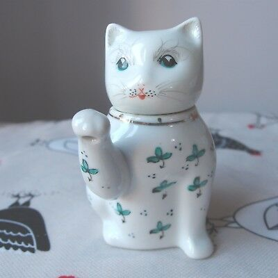 """Novelty Teapot Decorative Small Lucky Cat Made in China   - 4½"""" Tall - Cute"""