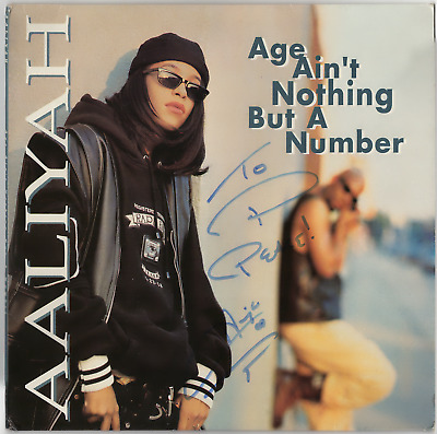 Aaliyah signed autographed Age Ain't Nothing But A Number Record Album! Epperson