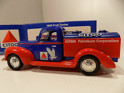 1940 Ford Tanker Citgo Diecast Metal Coin Bank 1/25Th 1994 Issue #5