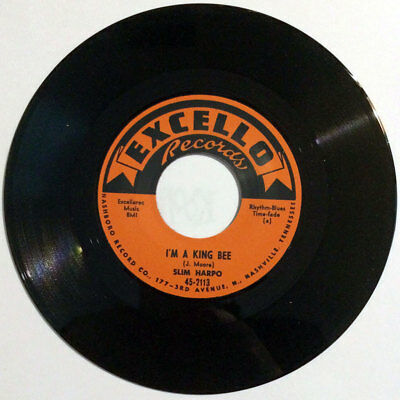 """Slim Harpo - I Got Love If You Want It / I'm A King Bee 7"""" blues boppers repro"""