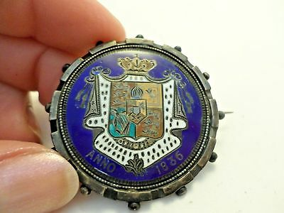 Antique Badge Royal Coat of Arms of U K Garter Great Britian North Ireland 1836