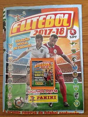 Panini Futebol 2017-18 Starter Pack Sealed Album With 10 Packets Of Stickers
