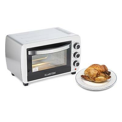 Klarstein 20 Litre Small Kitchen Oven Rotisserie Baking Grill Electric Timer New