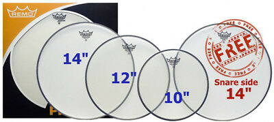 Remo 10,12,14 Clear Ambassador Drum Head Pack (NEW)