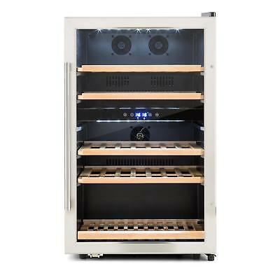 Klarstein Wine Refrigerator 41 Bottles 13 L Glass Door Restaurant Shop Bar Steel