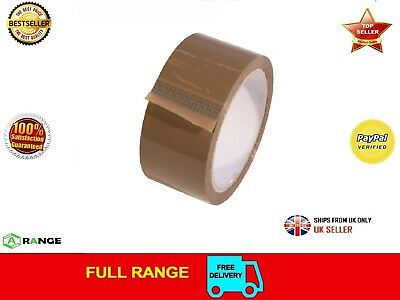 "144 ROLLS OF STRONG BROWN PACKING TAPE - 48mm x 66m (2"") - Big Rolls Parcel Tape"