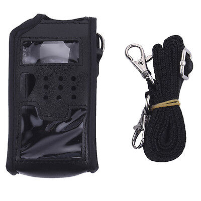Walkie Talkie Soft Leather Case Cover Radio Bag For BAOFENG UV 5R