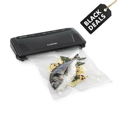 Klarstein Slim Vacuum Sealer Machine + 10 Bags 130W Food Packing Machine Storage