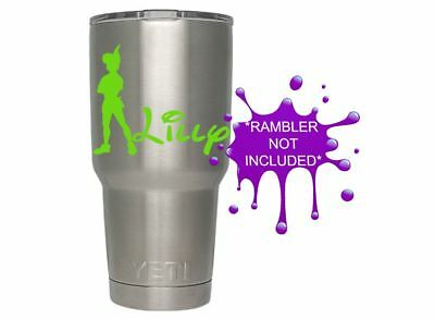 f7213dcf4dc PETER PAN PERSONALIZED Name Tumbler Decal / Yeti Vinyl Graphic Decal Sticker