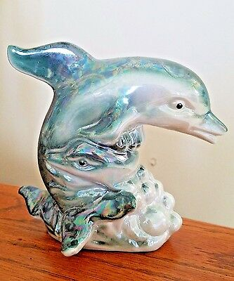 Porcelain Dolphin Fish Figurine