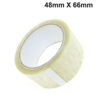 72 Roll Clear Strong Packing Tape Cartoon Sealing 48Mm X 66M Sellotape Packaging