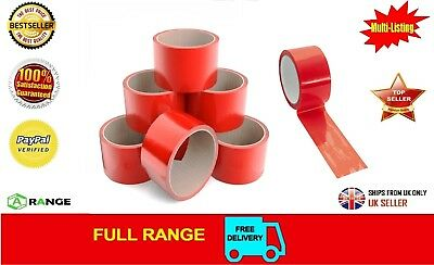 3 Roll Red Parcel Packing Tape Assorted Red Color Packing Packaging 50mm x 66m
