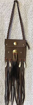 Native American Satchel, leather - set of 7