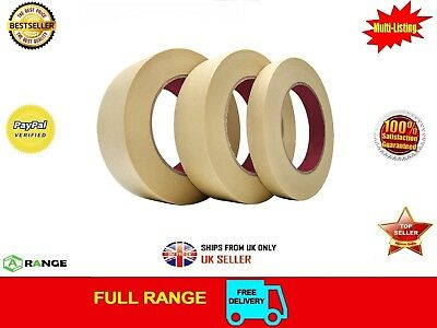 72 GENERAL MASKING TAPE 25mm x50M PAINTER PAINTING DECORATING ART CRAFT  BODY SH