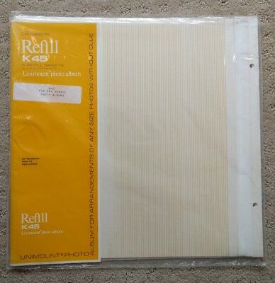 CR Gibson Unimount Photo Album K45 Refill Pages~5 pks (25 sheets) New Old Stock