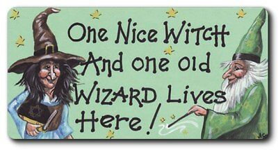 One Nice Witch And One Old Wizard Lives Here! Magnet 5Cm By 10Cm Frmag-Wp2*