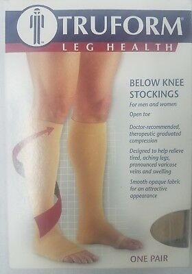 Truform 0845 Open Toe, Knee High 30-40 mmHg Compression Stockings PickSize&Color