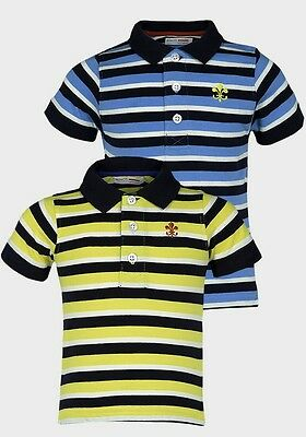Minoti Boys Contrast Stripe Polo Shirt