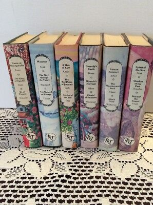 Lot of 6 Romance Treasury Association Books Vintage Hardcover Paper Jacket 1970s
