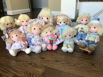 Precious Moments Dolls Vintage Lot of 10 by Applause - EUC