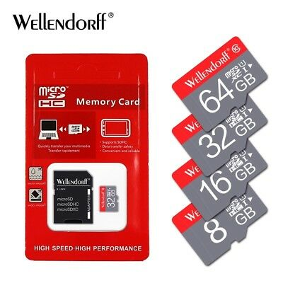 Wellendorf 4gb Micro SD Memory Card with Adapter New in Box