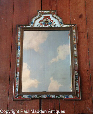Antique 18th C. Scandinavian Courting Mirror