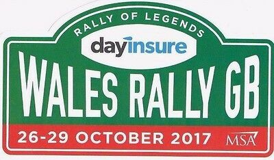 """Official Wales Rally GB STICKER  """"NEW"""" 2017"""