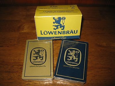 Lowenbrau Beer Playing Cards in Original Box That Resembles a Case of Beer- New