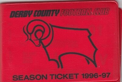 Season Ticket Book - Derby County 1996/7