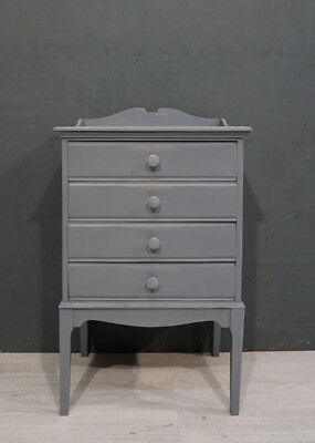 Antique Music Chest of Drawers / Bedside Drawers (RR104)