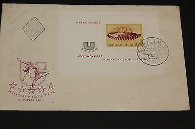 Hungary 1965 Budapest University Minature Sheet On First Day Cover