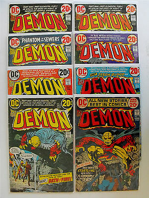 The Demon-1972-Fifteen Issue Lot-Low To Mid Grade