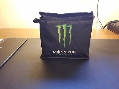 MONSTER ENERGY Insulated Lunch Bag Black with Green Logo