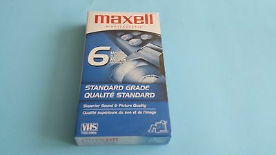 Maxell Videocassette VHS T-120/246m Blank Tape
