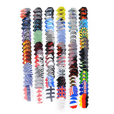 150x/lot Dart Flights in 50 Kinds of Patterns RARE Darts Fin Feather AccessoryEV