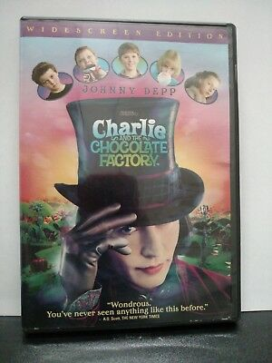 ** Charlie and the Chocolate Factory (DVD, 2005) - Johnny Depp - Free Shipping!