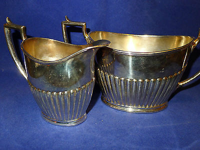 Vintage Daniel & Arter Art Deco Silverplated Cream & Sugar Set - Birmingham, UK
