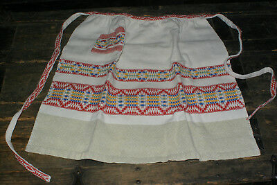 Vintage Kitchen Cotton Half Apron Cream