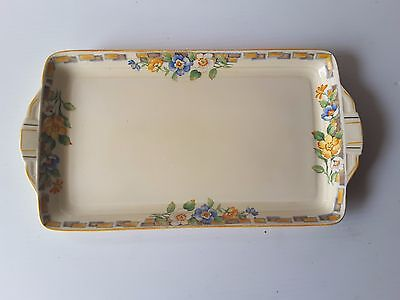 Vintage Sandwich Tray Plate   Grindley England Serving Tray Flower Pattern