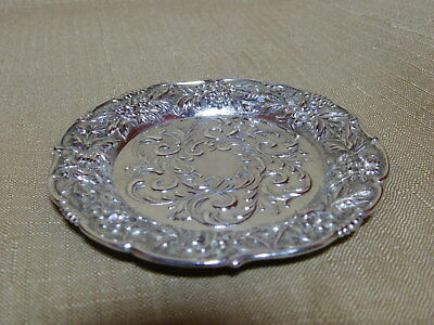 S Kirk & Son Repousse Sterling Silver Dish ~ No Monogram
