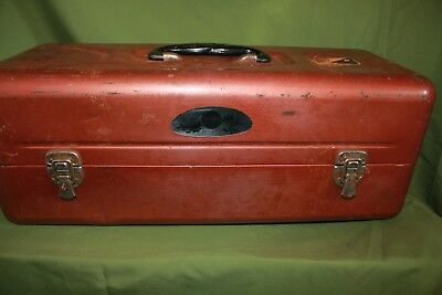 Vintage Sears Roebuck Fishing Tackle Box Coppered Colored