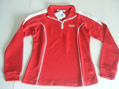 NIP Ladies  RED LS  Tri-Mountain Coca Cola  Shirt Small