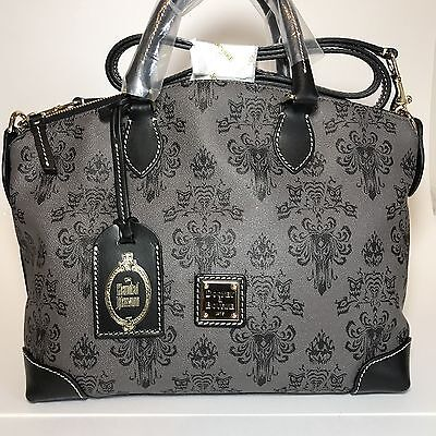 NWT Dooney & Bourke Haunted Mansion Satchel Sold Out Disney Wallpaper Ghosts