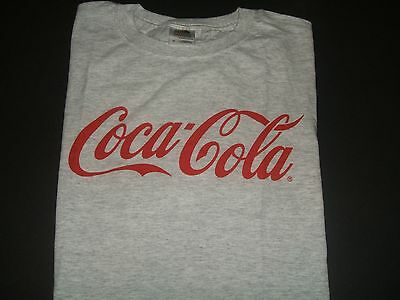 Classic Light Gray Coca-Cola  T-Shirt Medium