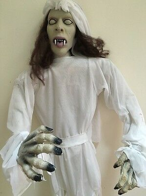 """Zombie Bride Witch Halloween Hanging Prop 56"""" Length Scary!"""