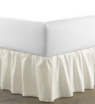 Laura Ashley Home White Twin Bedskirt-NEW