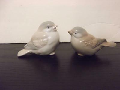 "(2) Home Interior Bird Porcelain Figurines HOMCO Vintage Japan 2"" EUC"